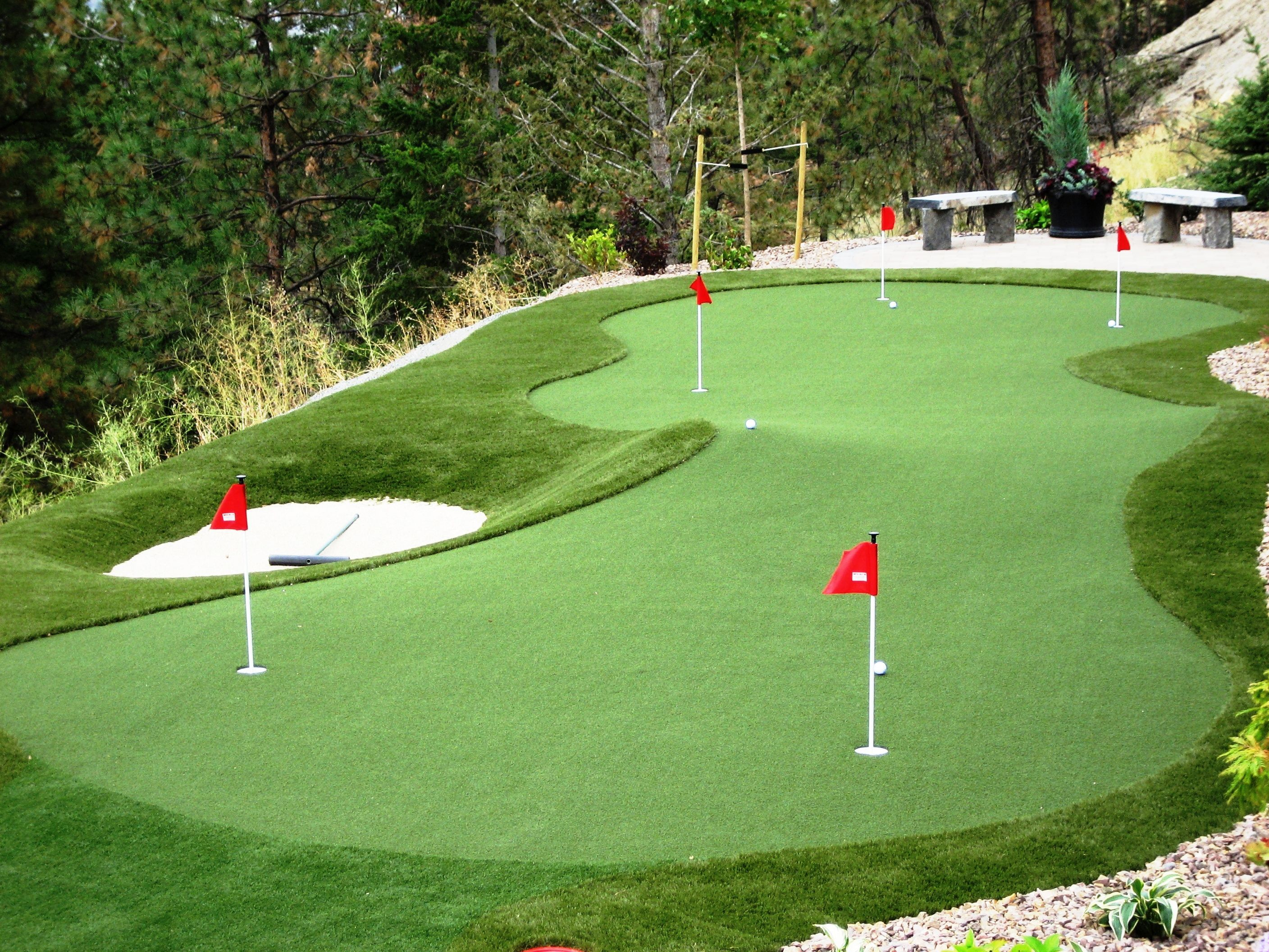 Practise your putts in your own back yard