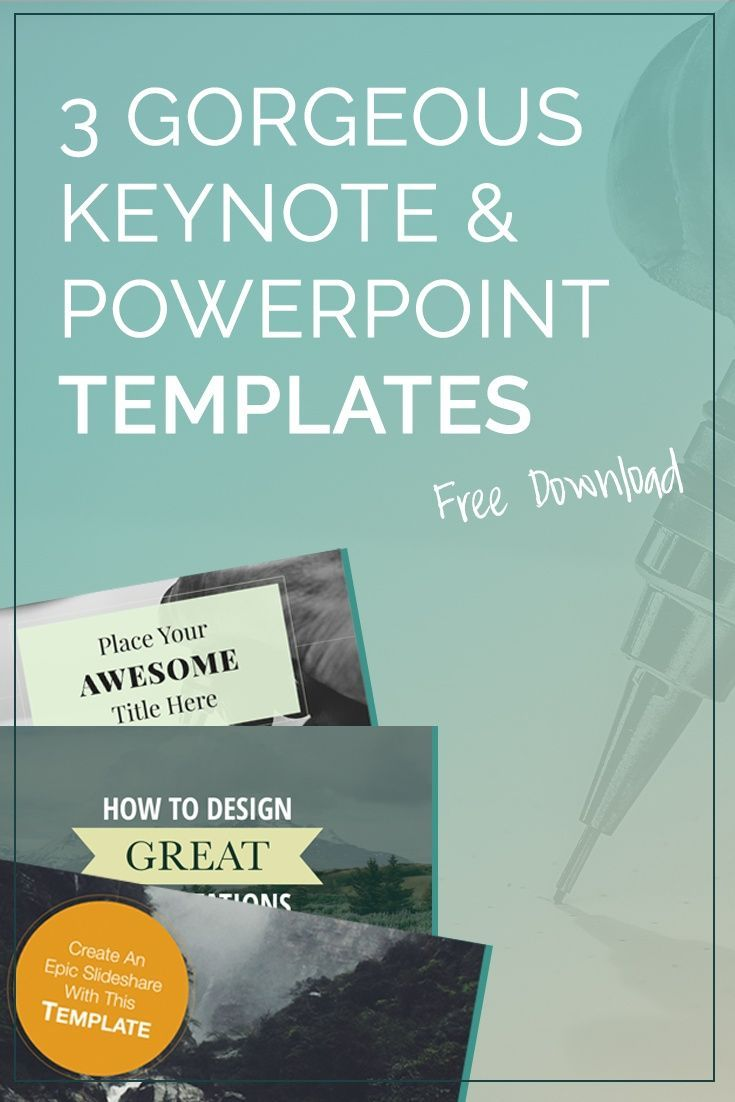 3 Gorgeous Free Keynote Powerpoint Templates Themes Business