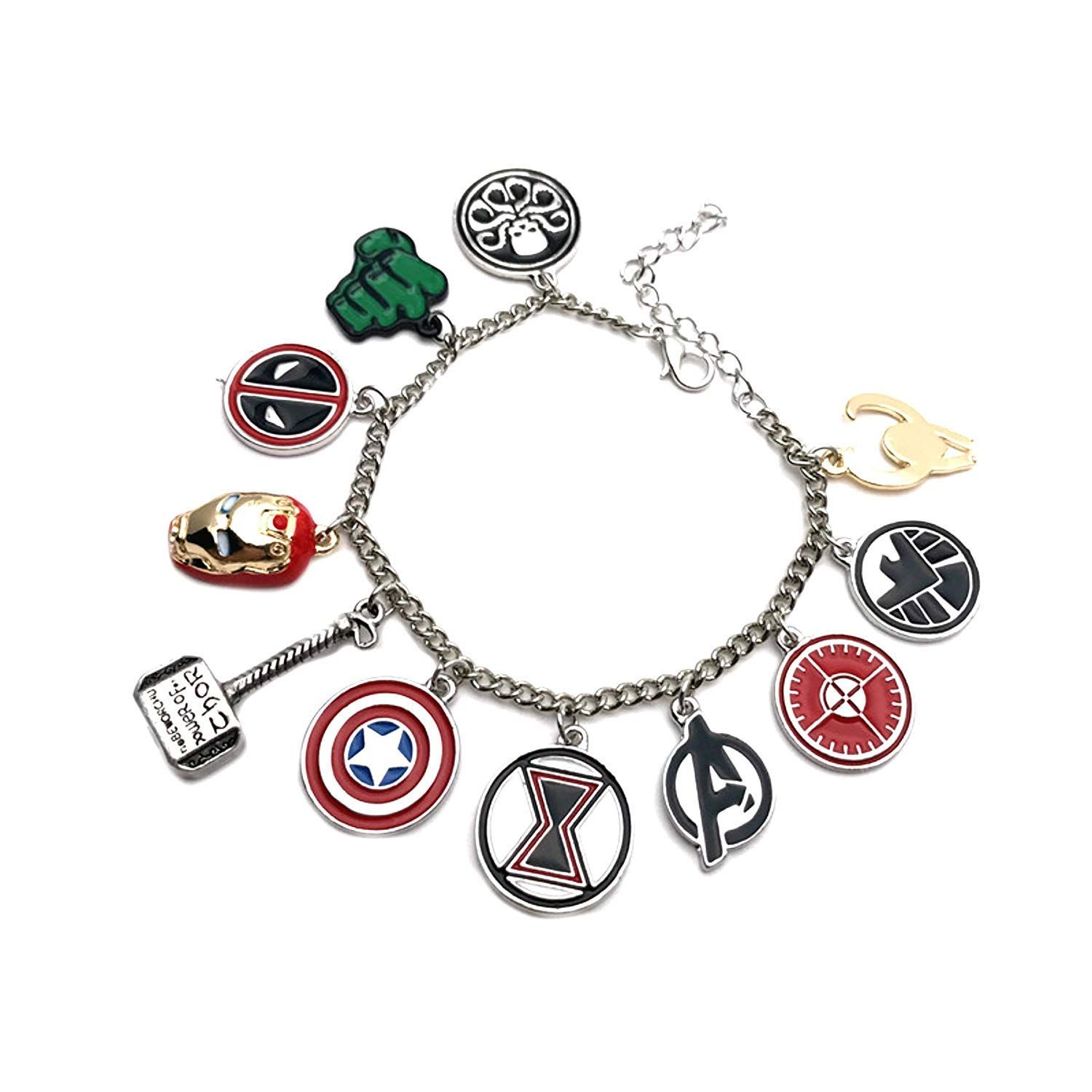 Yellow Chimes Avengers Merchandise Charms Bracelet For Girls And Women In 2021 Marvel Jewelry Charm Bracelets For Girls Fandom Jewelry