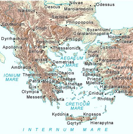 Ancient Greece Map - Map of Greece - Ancient Greek and Iliad Studies ...