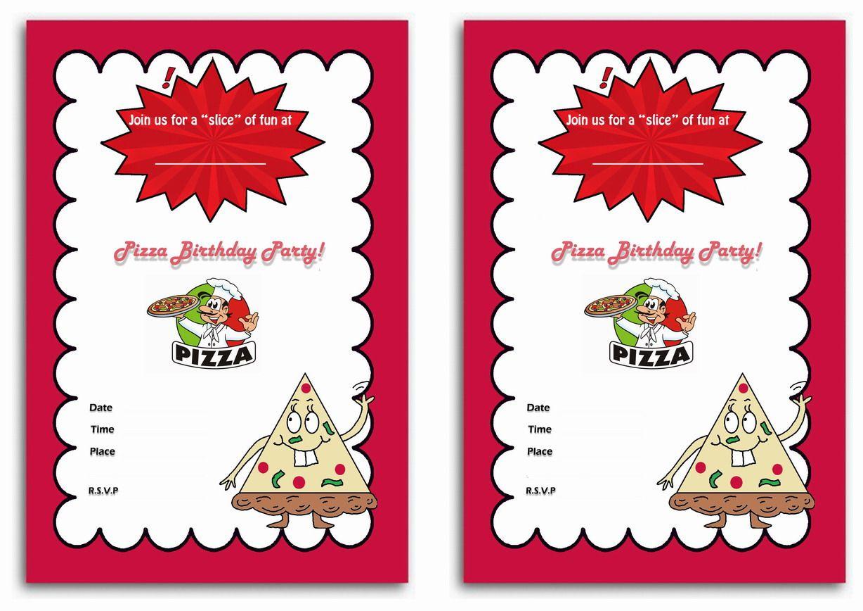 Pizza themed FREE Printable Birthday Party Invitations | Birthday ...
