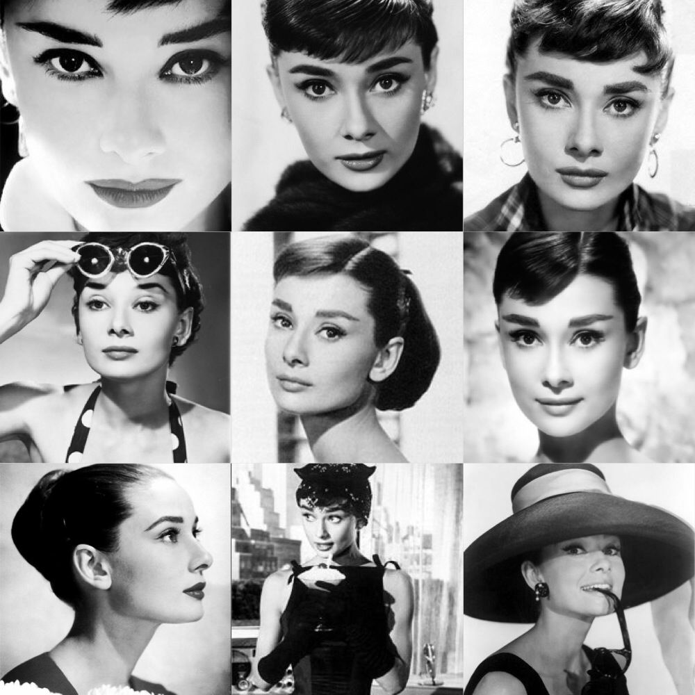 Audrey Hepburn Black && White