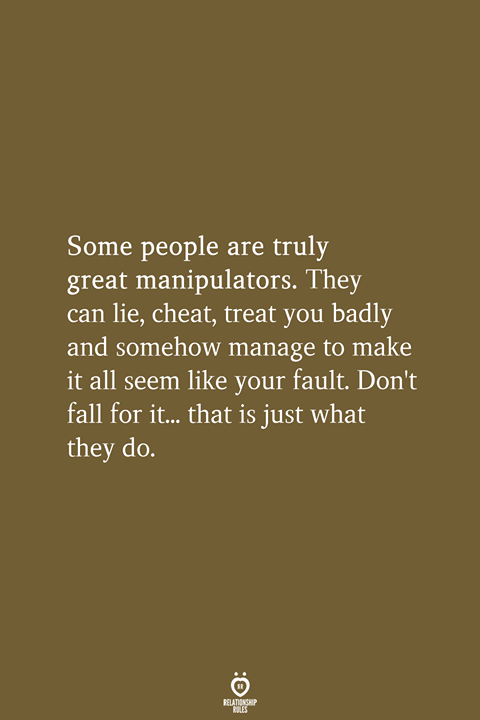 Some People Are Truly Great Manipulators