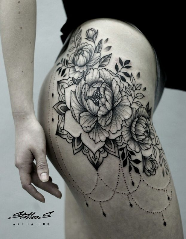 Tattoo Stanislav Sidorov - tattoo's photo  In the style  Graphics, Female, Flowe (419984)