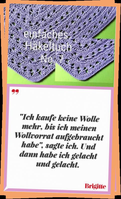 Photo of Häkeltuch 7 Einfacher dreieckiger Schal