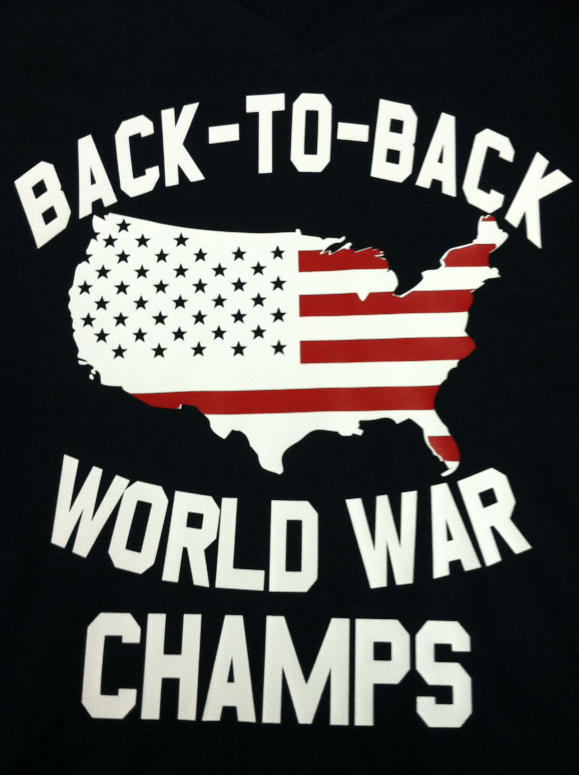 b53da21f Back to back world war champs shirt | Misc. Shirt Designs | Cool ...