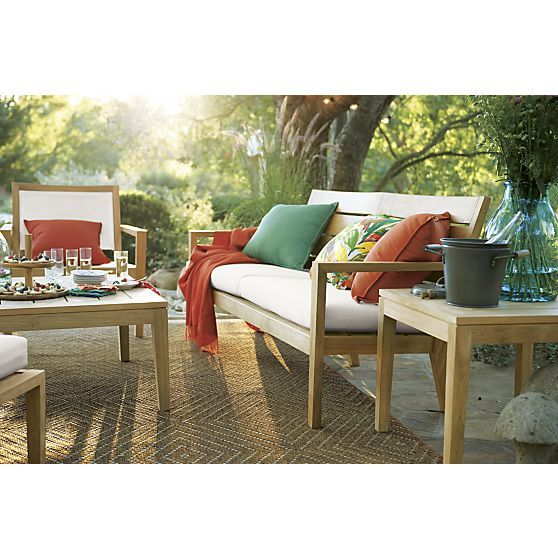 Regatta Sofa With Sunbrella® White Sand Cushions | Crate And Barrel. Outdoor  Lounge ChairsOutdoor ...