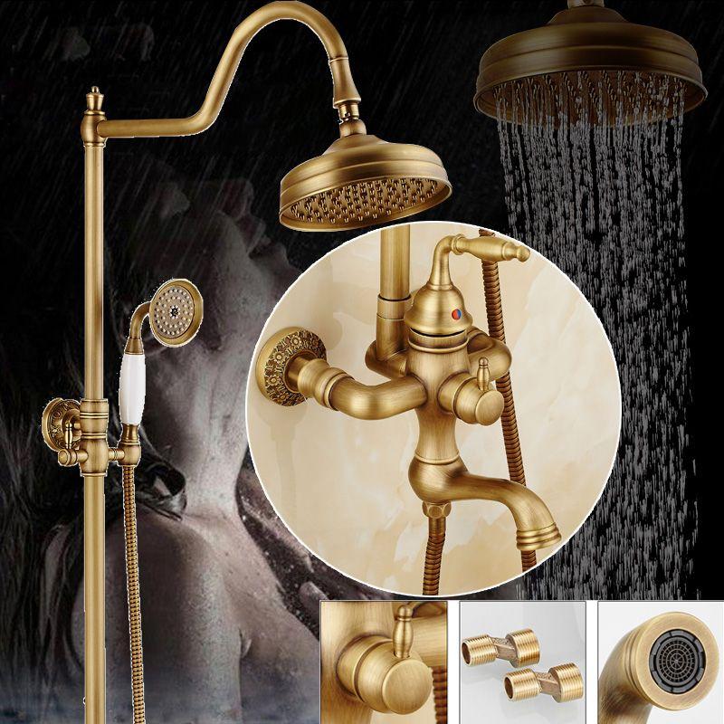$203.40 | Top-end Design Brass Shower Set 8\