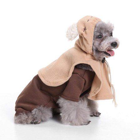 Pet Halloween Elf Costume Dog Jeans Clothes Cat Funny Apperal Xl