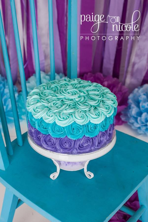 1st Birthday Smash Cake 9 double layer WASC cake with vanilla