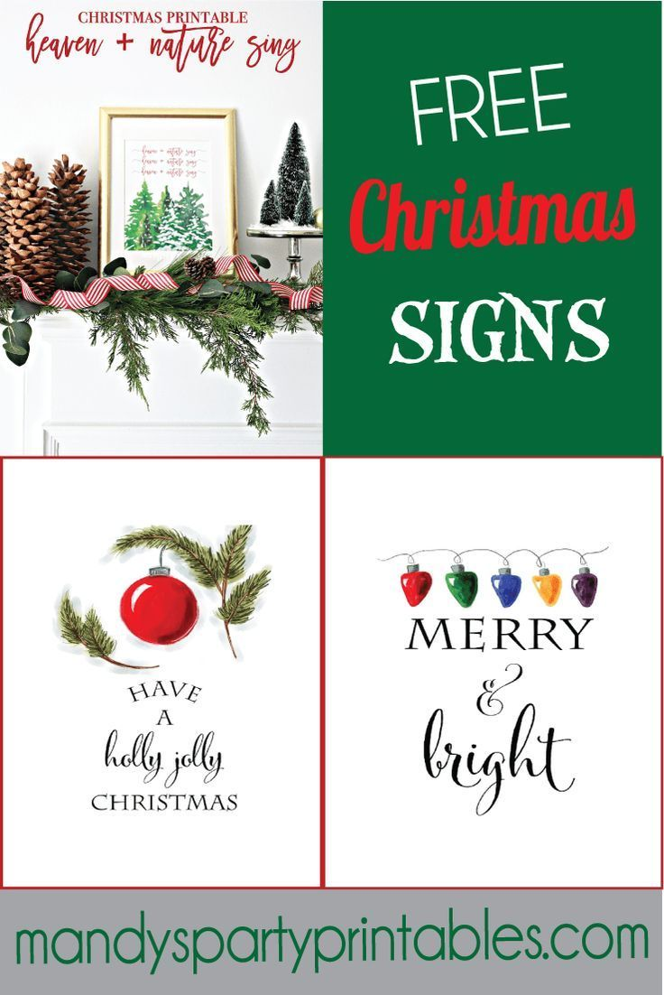Free Christmas Printable Signs Roundup | Printables and Subway Art ...