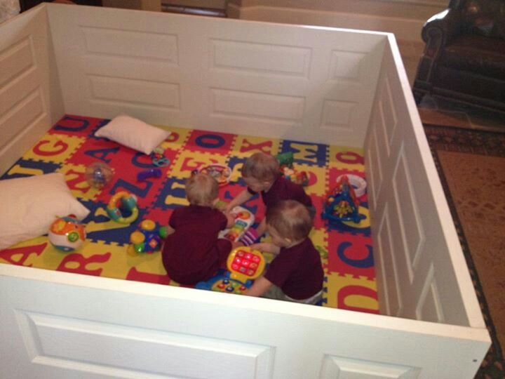 A great DIY playpen for kids inside or outside made out of ...