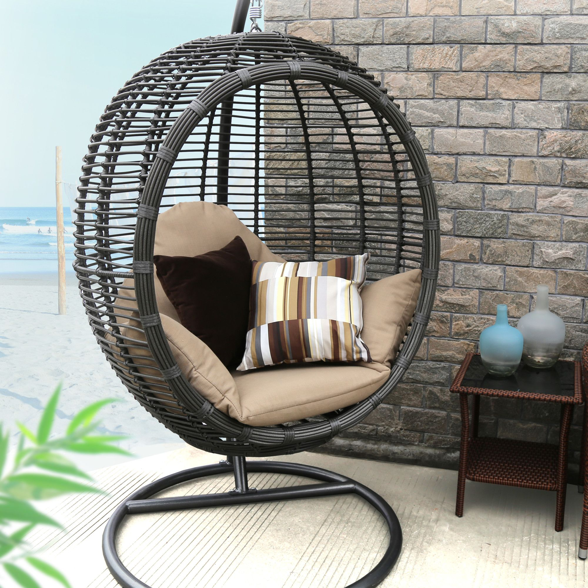 Swing Chair with Stand Swinging chair, Patio lounge