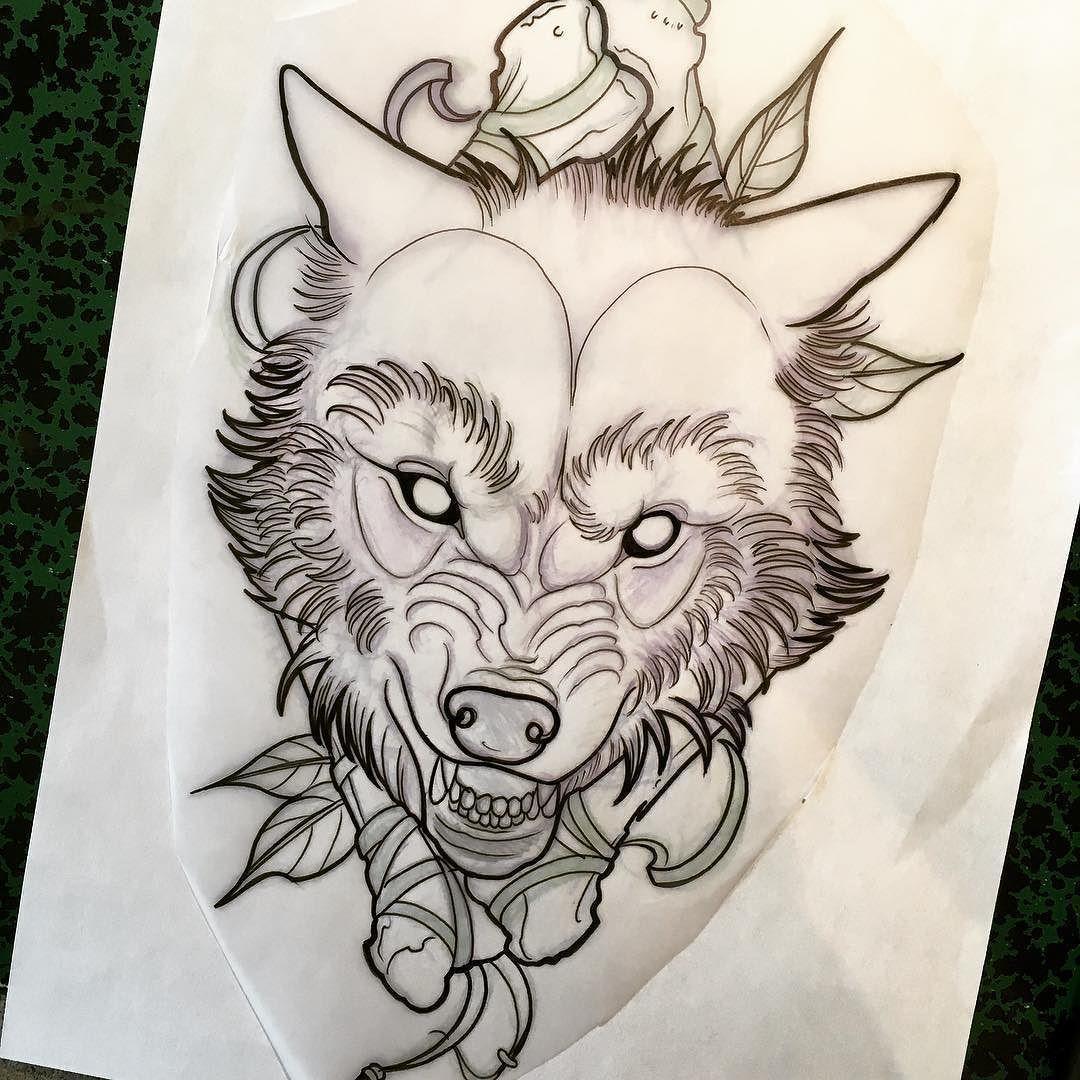 Wolf Tattoo Eskiz Volka Eskizy Tatuirovok Eskiz Tatu