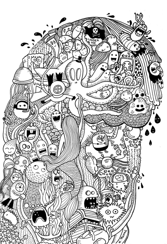 doodle: Under the sea by MunnbeL @ deviantART   color/printables ...