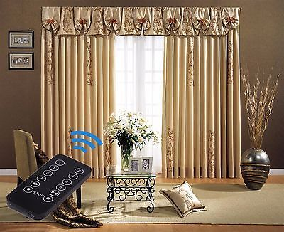 rod window traverse control electric power system depot curtains home curtain remote