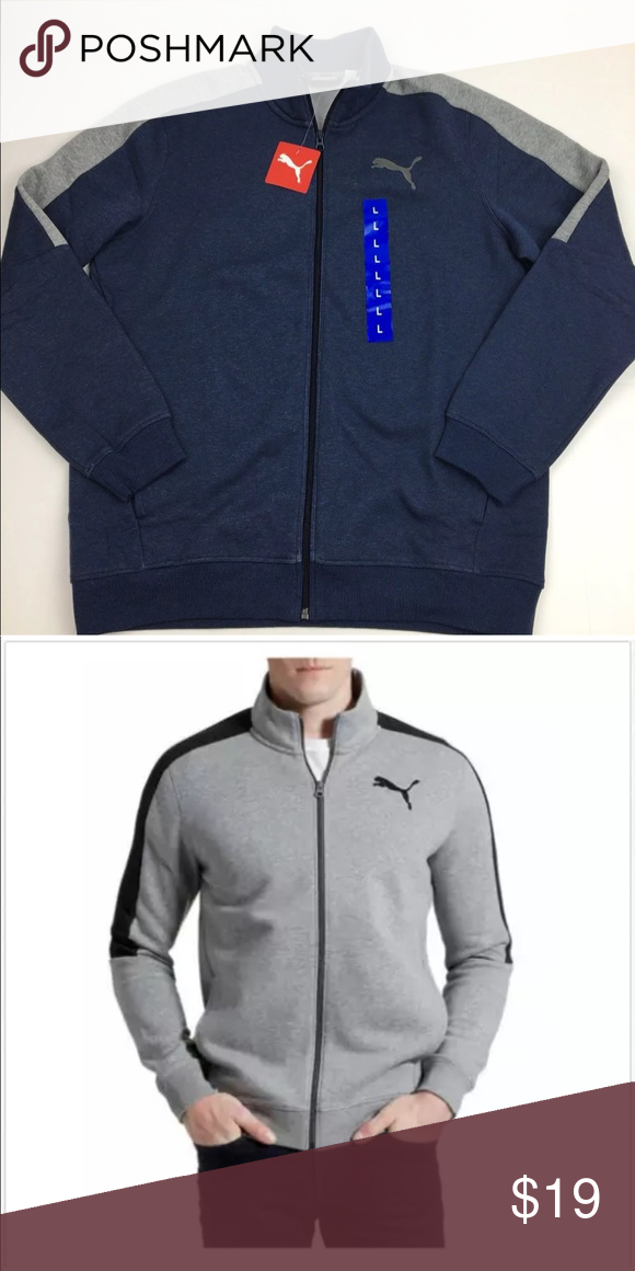 402892624286 Puma Men s Track Jacket Peacoat Navy Size Large Features  Color  peacoat  Heather (navy
