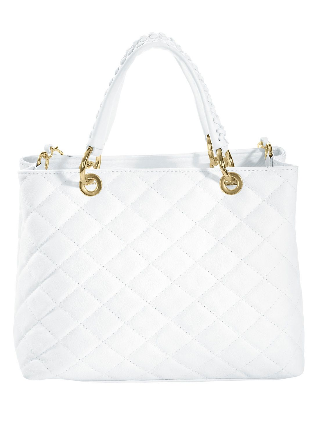 Collezione Alessandro Tas wit chanel look bag white leather leer 1db982cd4a