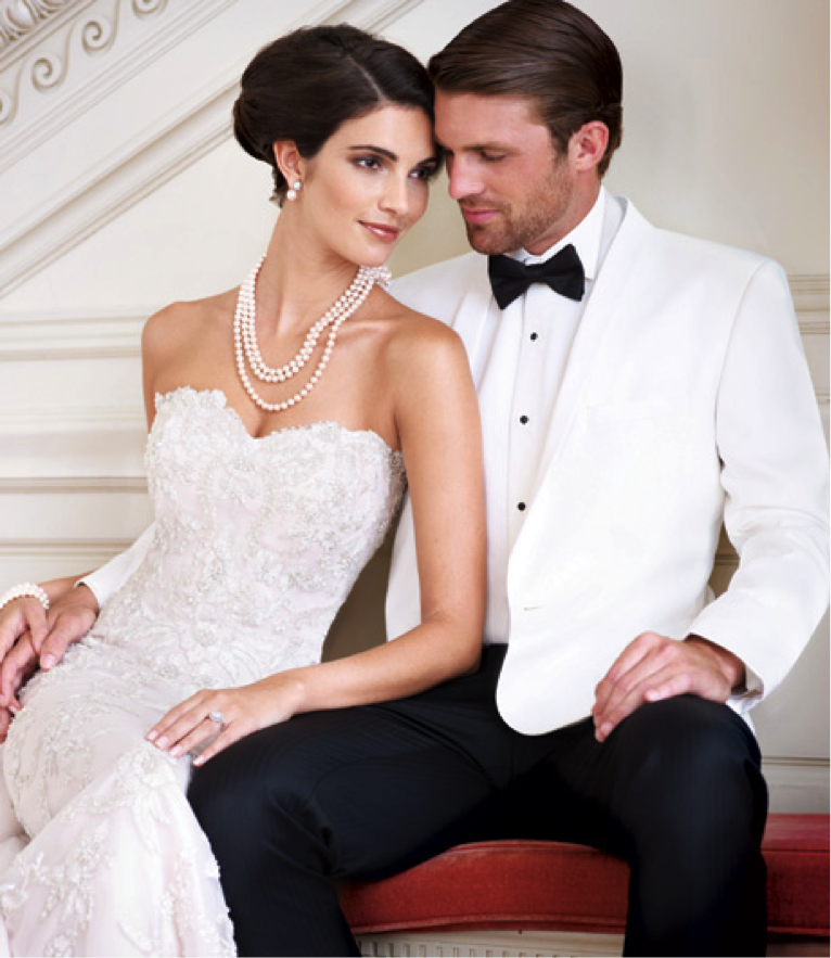 White Wedding Dress On Rent: White Dinner Jacket From The David