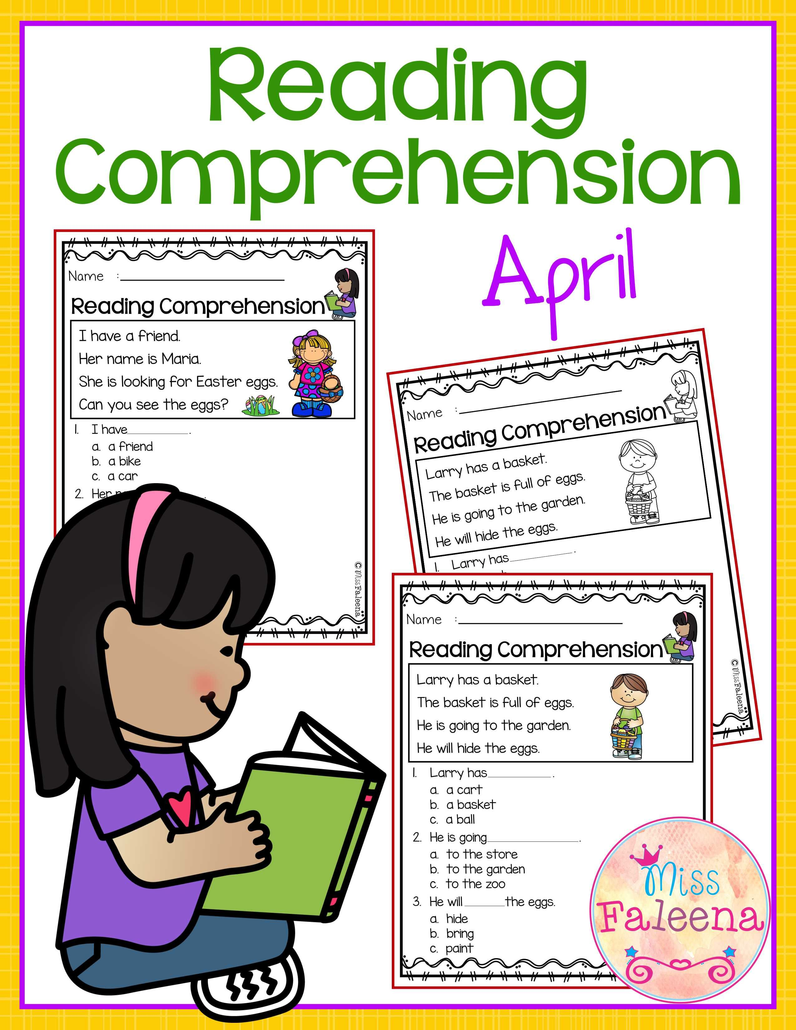 April Reading Comprehension Is Suitable For Kindergarten