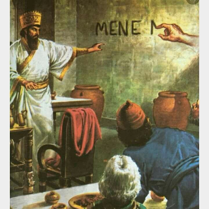 Daniel Chapter. 5 The Writing on the Wall ( You definitely need to read it)  | Bible art, Bible pictures, Bible illustrations