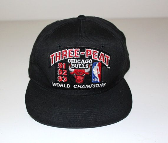 a7c4aab6fb1f5 Vintage CHICAGO BULLS Hat 91-92-93 Championship Cap by MuskratSuzy ...