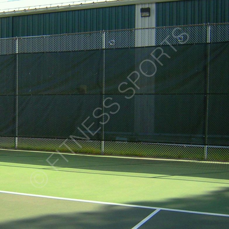 Exterior Tennis Court Canvas Mesh Screening Sheets Improve Court Privacy And Reduce Wind Made From 300gsm Dark Green Hdpe Tennis Court Tennis Tennis Equipment