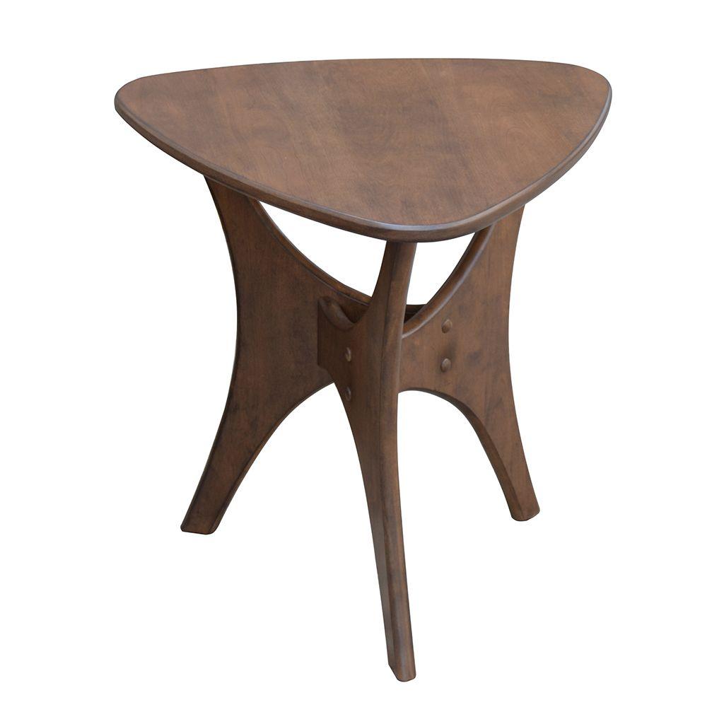 Blaze Triangle Wood End Table Mid Century Decor Wood Side  # Muebles Bobrick