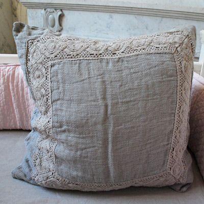 Bella Notte Decorative Square Pillow Homespun Flax  $135