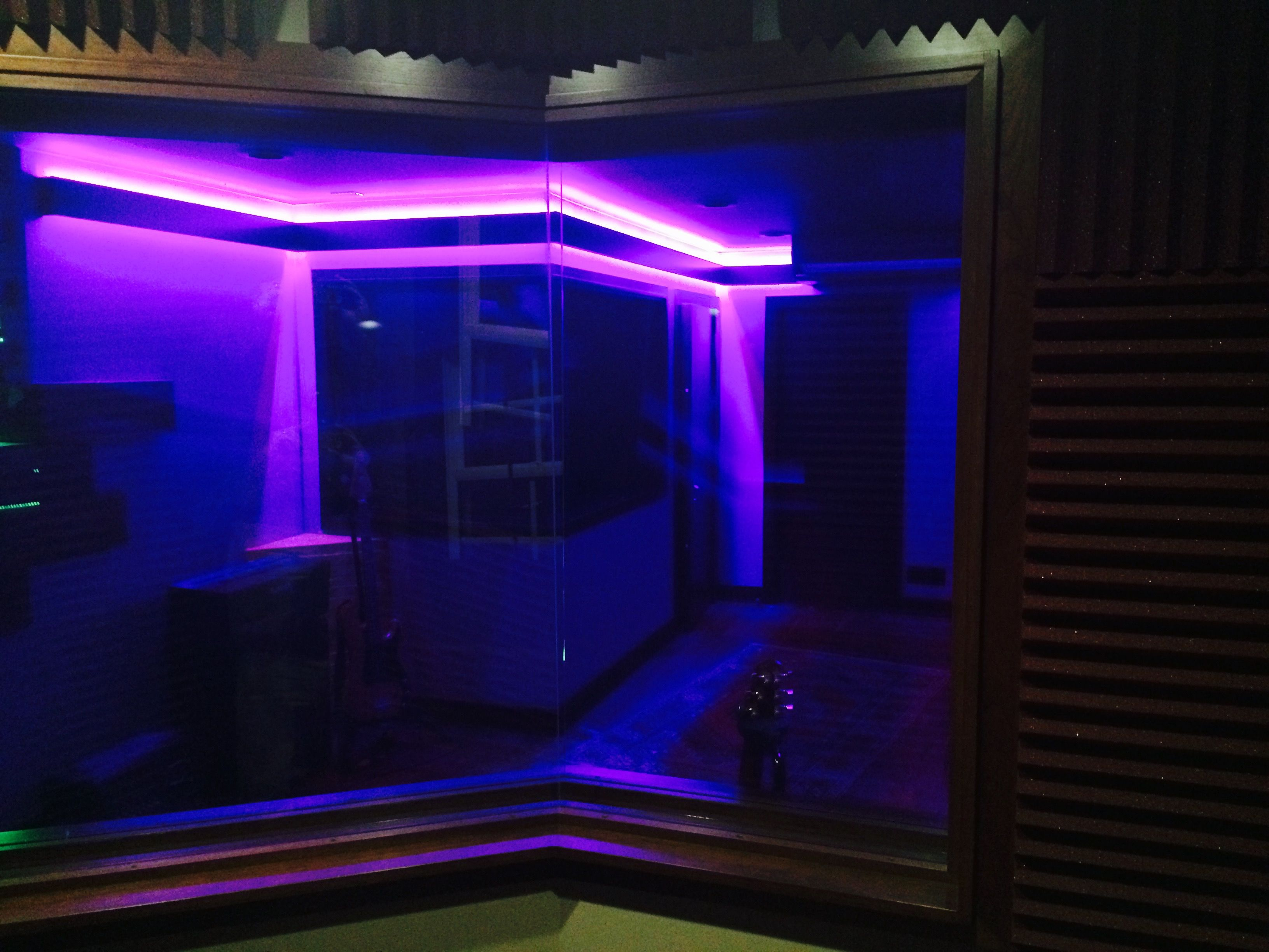 Led Light Strips For Room Captivating Led Tape Lighting Around Studio Live Room  Aster Recording Studio Decorating Inspiration