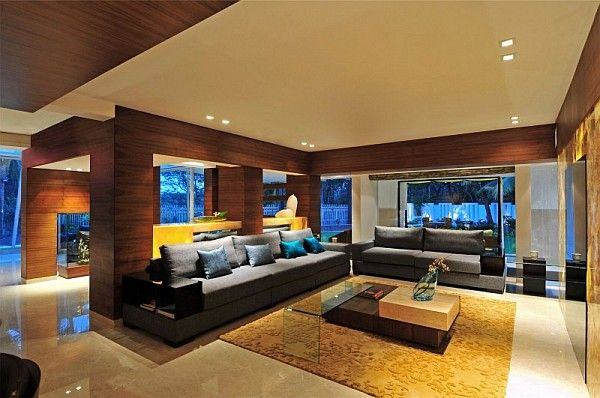 Stylish Contemporary Home In India Revamped With Lavish Interiors Bungalow Interiors Bungalow Living Rooms Bungalow Design