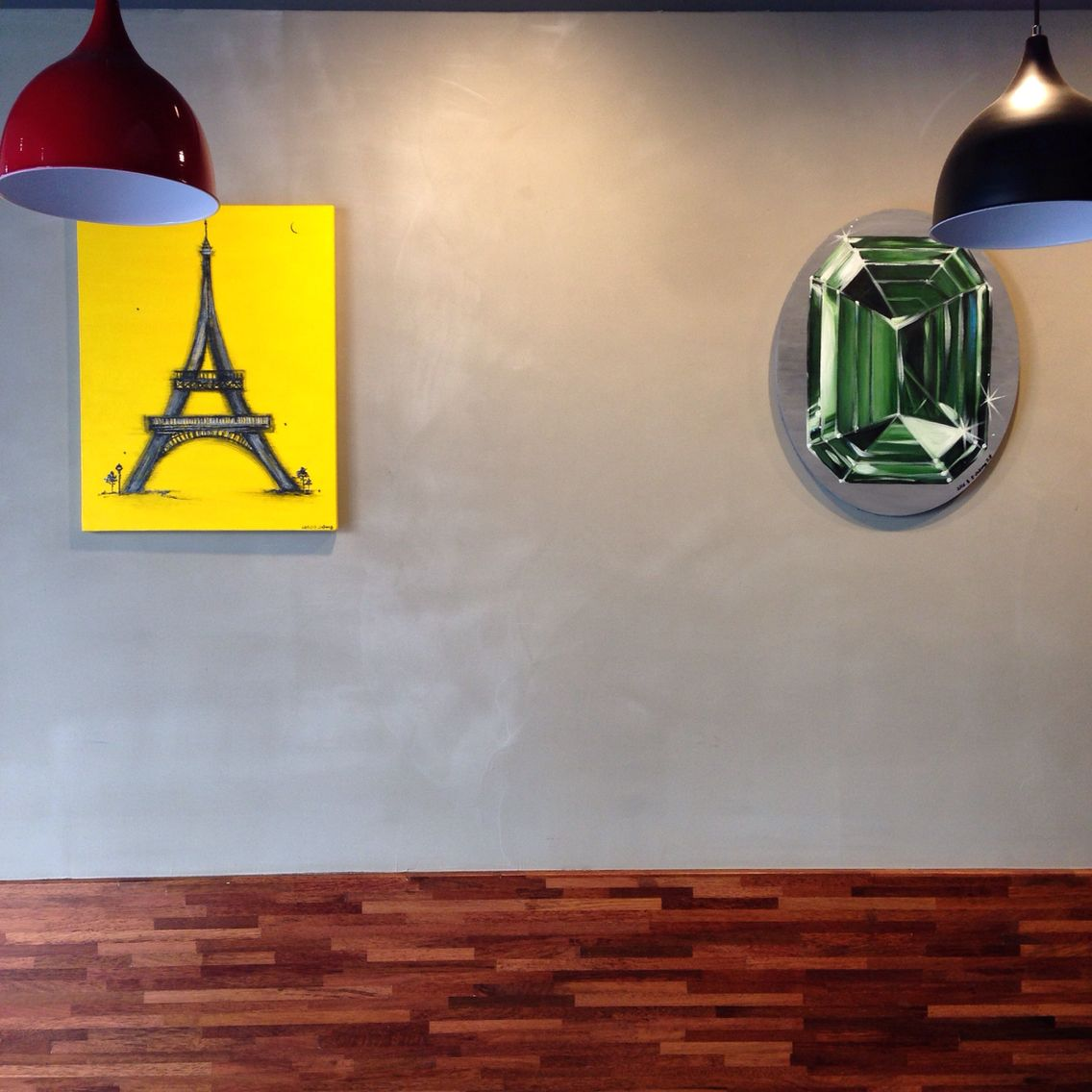 My canvas art, effiel tower, emerald, brillrant, canvaspainting
