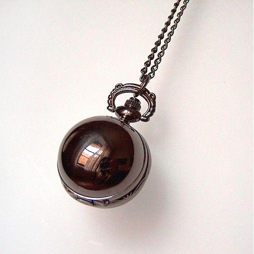 kamienky / Vintage hodinky / Gulička čierna