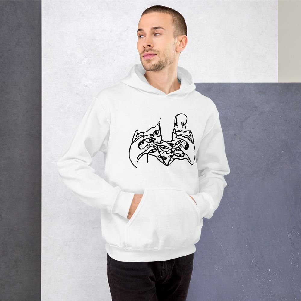 Limited Edition Unisex Hoodie by Tattoo Artists Trash Todd  Free Express Shipping!  Everyone needs a cozy go-to hoodie to curl up in, so go for one that's soft, smooth, and stylish. It's the perfect choice for cooler evenings!    • 50% cotton, 50% polyester   • Double-lined hood  • Double-needle stitching throughout   • Air-jet spun yarn with a soft feel and reduced pilling  • 1x1 athletic rib knit cuffs and waistband with spandex  • Front pouch pocket  Size guide       S M L XL 2XL 3XL 4X