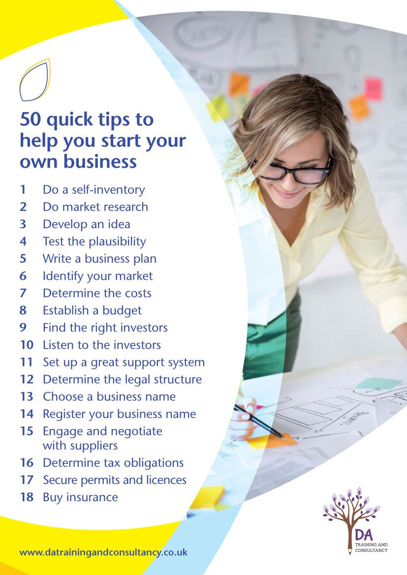 Page one of a pdf showing 50 quick tips to help start your