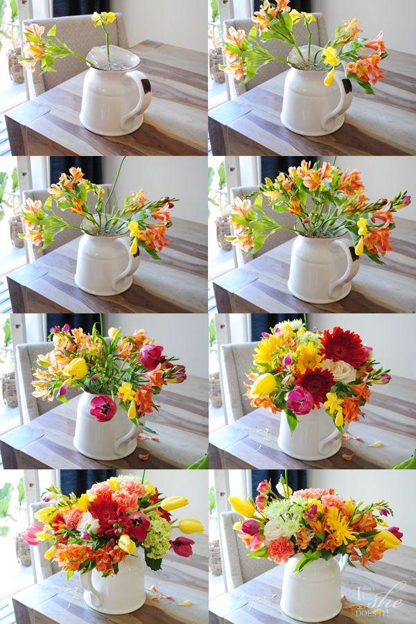 an easy diy floral arrangement for spring | spring flower