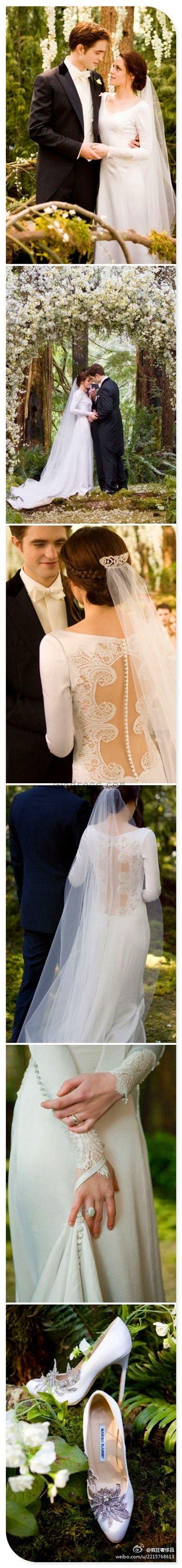 Bella's wedding dress in breaking dawn  Vintage wedding dress Vintage wedding dresses  Twilight saga