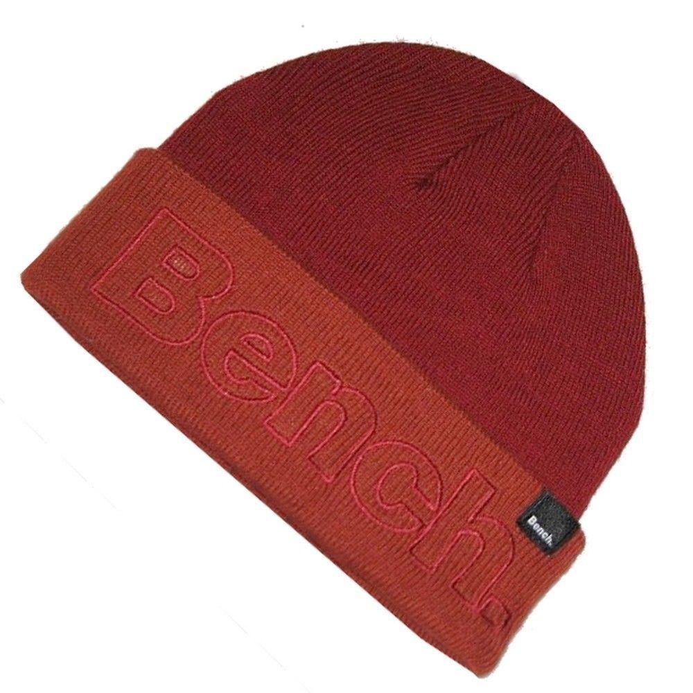 7bce73b7f40214 Bench Mens Autumn Red Beanie Hat One Size | Beanie Hats | Red beanie ...