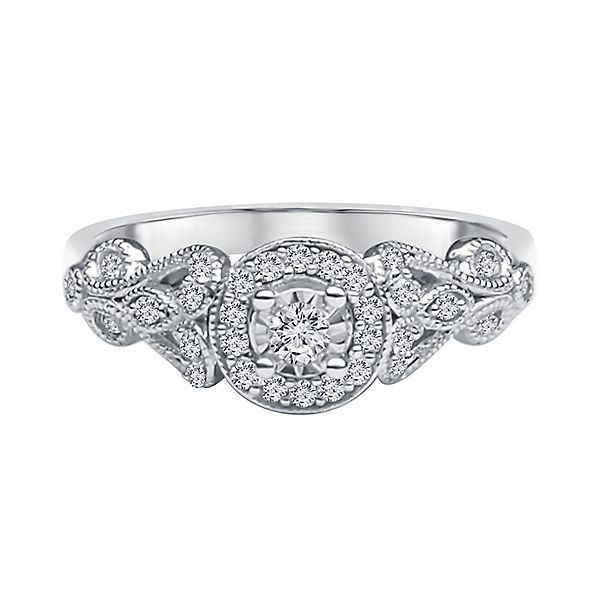 15 ct tw Diamond Engagement Ring in 10K White Gold Christmas