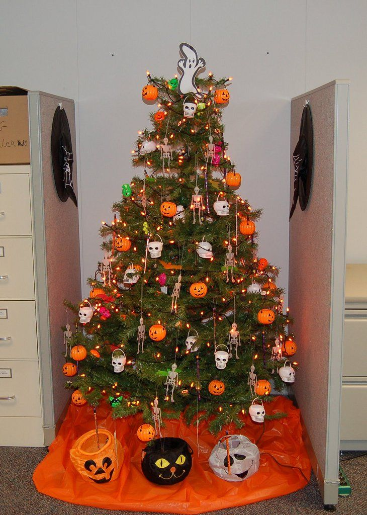halloween trees theyre more than just christmas trees with halloween ornaments - Halloween Tree Decorations