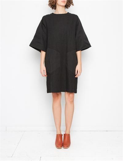 Cosmic Wonder Sashiko Hand-stitched Dress- Black  cf33d60f6b110