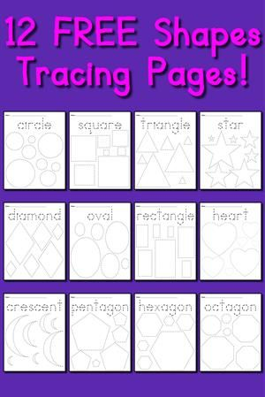 Oodles of apples tracing patterning more printable shapes 12 free printable shapes tracing worksheets ibookread Read Online