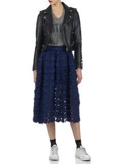 Jupe midi brodée Jardin Bleu by MAJE | Fashion, Clothes