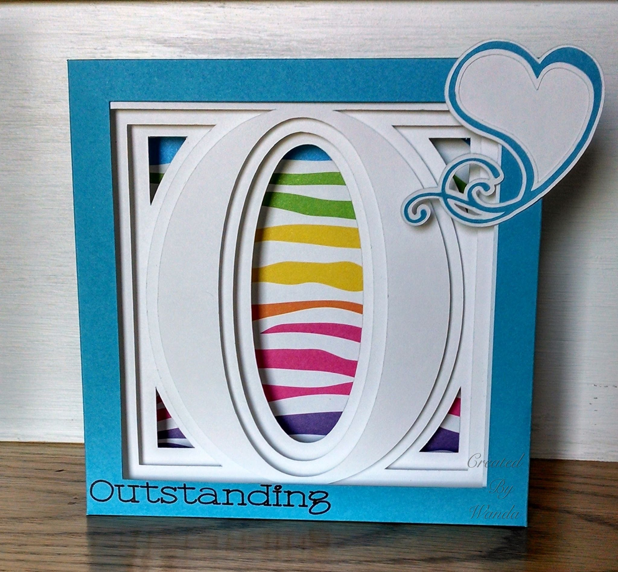 Using cricut design space and my explore I made this 3D alphabet letter box from 3D Cuts
