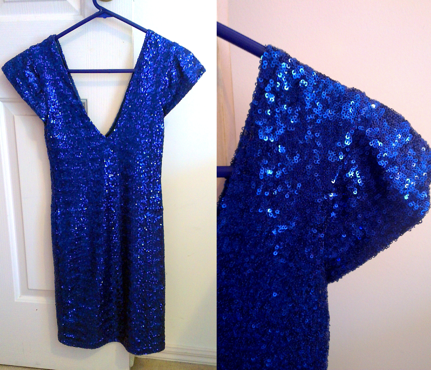 Blue sparkly dress of dreams.