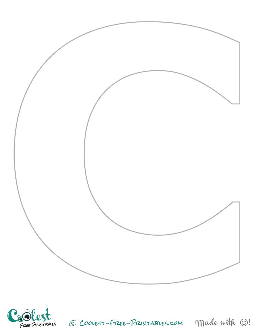 Free Printable Stencil Letters The Letter C Stencil Me