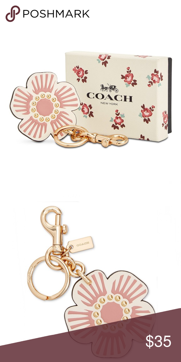 Boxed Willow Floral Bag Charm Style 28462b Attached Split Key