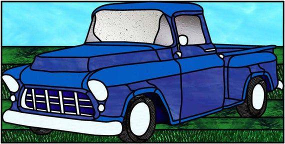 1956 Chevy Truck Glasmalerei Muster Etsy Trucks Lifted Diesel Chevy Trucks Diesel Trucks