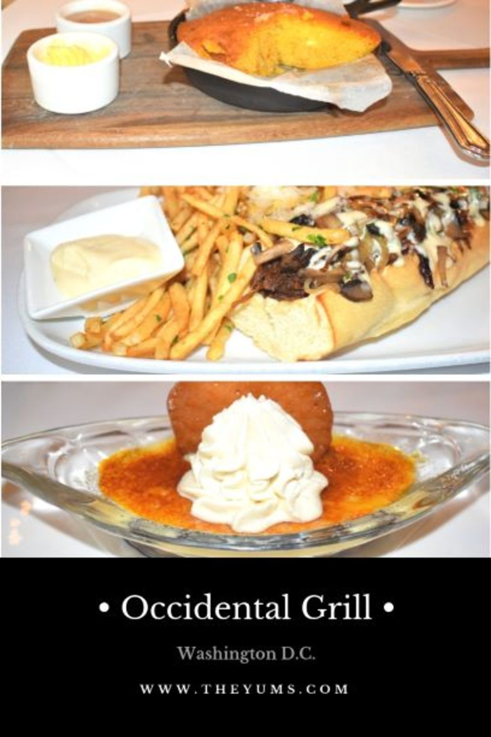 sample dishes from the occidental grill and seafood restaurant in