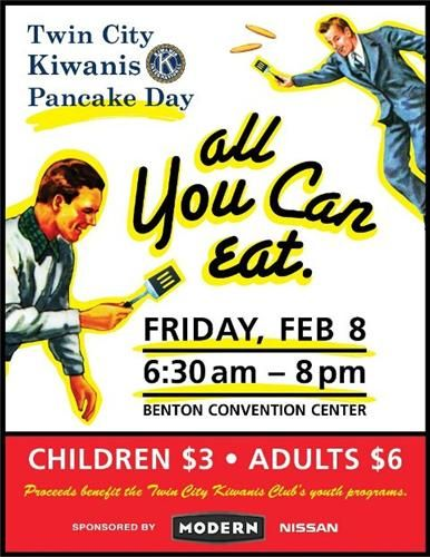 On Friday Feb 8 2013 The Twin City Kiwanis Club Will Host Its 56th Annual Pancake Jamboree At The Benton Conve Convention Centre Twin Cities Youth Programs